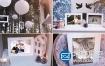 AE模板-唯美浪漫的的婚礼相册生日祝福照片幻灯片动画