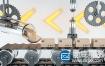 C4D工程-创意传送带智能物流静帧工程