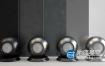 金属材质:4个C4D VRAY划痕金属材质球