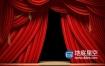 视频素材:红幕布拉开动画 Red Stage Curtains Opening