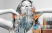 AE模板-时尚动感模特服搭分屏文字排版产品介绍