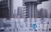 3D模型:未来科幻楼房建筑 Kitbash3D – Brutalist
