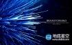 AE模板-科技感粒子光学励志文字片头动画