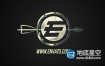 AE模板-3D弓箭快速射向标志logo展示动画