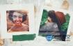 AE模板-笔刷遮罩生日旅游婚礼相册夏天照片展示