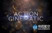 AE模板-震撼大气金色粒子爆炸史诗激烈流体演绎片头动画