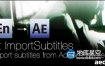 AE脚本:xt/srt字幕导入脚本Aescripts pt_ImportSubtitles v1.7