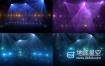 视频素材:唯美梦幻的舞台音乐会闪光灯颜色变换循环动画场景