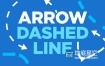 视频素材:40组虚线箭头动画 Arrow Dashed Line