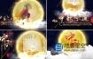 AE模板-中秋节日金色字体粒子飘散图片展示