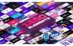 AE脚本+PR预设-1450种LOGO标题字幕条排版时尚包装转场背景图形元素动画V3 (支持2019)