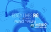 C4D插件:柔软风格人物角色绑定插件 Eyedesyn – Bendy Limbs Rig