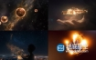 AE模板-高端大气的手捧星云粒子开场LOGO展示片头动画
