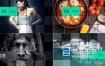 AE模板-玻璃质感的网格图片展示企业公司房地产视频宣传推广