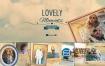 AE模板-复古相框婚礼会议相册纸质感照片动画