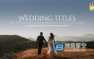 FCPX插件:50种小清新浪漫婚礼文字标题字幕动画预设Motion模板