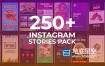 AE模板-250种时尚现代手机竖屏排版产品包装设计动画 Instagram Stories