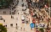 视频素材:实拍上海南京路街景市人流城视频素材