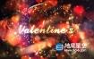 AE模板-金色心形粒子浪漫情人节婚礼宣传视频片头