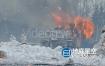 视频素材-4组火焰燃烧时弹出的火花粒子特效合成素材
