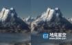 C4D模型预设-雪山模型预设 Infinite Mountains for Cinema 4D