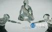 AE模板-双重曝光抽象艺术的文字片头动画