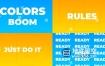 AE模板-清新明亮时尚动感渐变色演示活动视频文字开场片头