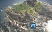 C4D模型-海中美丽小岛模型