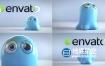 AE模板-搞笑3D角色卡通黏液LOGO演绎视频片头动画