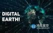 视频素材-4K互联网技术粒子地球数字高科技宣传主题背景