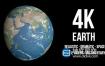 视频素材-4K超高清逼真太空地球旋转国家纪录片科学介绍视频