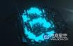 AE模板-震撼的3d霓虹灯数字倒计时logo标志展示片头动画