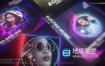AE模板-DJ音乐可视化频谱跳动节奏波形歌手人物简介视频动画
