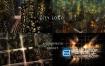 AE模板-3D城市建筑夜晚道路霓虹灯车灯流动光线LOGO标志视频片头
