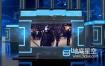 AE模板-3D图形场景信息霓虹灯新闻播报电视频道包装设计动画  Information News