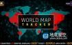 AE模板-世界地图人口跟踪器 COVID-19 冠状病毒流感大流行数据统计