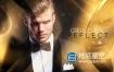 AE模板-豪华金色的颁奖典礼仪式电影预告片婚礼片头动画