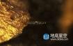 AE模板-黄金色的背景虚化颗粒奥斯卡颁奖典礼仪式奖项电影预告片开场白文字片头动画