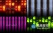 视频素材-4K灯舞台灯立方体多色地板反射Vj灯光迪斯科活力闪光灯背景素材