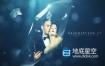 AE模板-3D蓝色钻石水晶钻石玻璃照片展示颁奖典礼婚礼包装标题片头动画 Navy Blue Crystal
