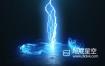 AE模板-炫酷的粒子旋涡闪电爆炸logo标志展示动画 Vortex Lightning Explosion Logo