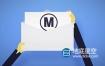 AE模板-扁平化经典简洁创意信封邮件拆开logo标志展示动画 Logo Reveal by Mail