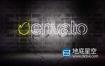 AE模板-炫酷的酒吧俱乐部砖墙上霓虹灯标志logo片头展示动画