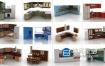 3D模型-28套厨房橱柜模型合集 Kitchen set 3d models