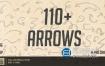 视频素材-115个手绘草图标注提示标记箭头图形动画