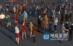 3D模型-84个低面现代人物C4D模型 Complete Colored Lowpoly Standing People Low-poly 3D model