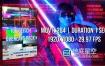 视频素材-100个像素损坏信号干扰故障毛刺抖动闪烁叠加动画 Glitch Overlays Pack