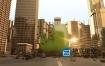 AE模板-大气震撼的E3D城市商业街道摩天大楼logo标志展示动画 Massive City Logo