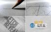 AE模板-铅笔素描绘制建筑草图蓝图艺术网格Logo标志展示动画