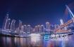 视频素材-4K实拍重庆渝中区洪崖洞朝天门夜景延时视频